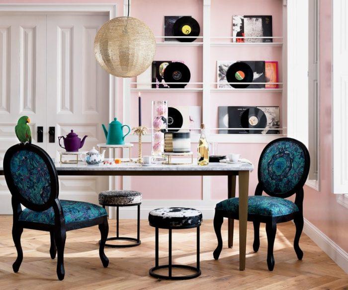 cadeira jantar azul