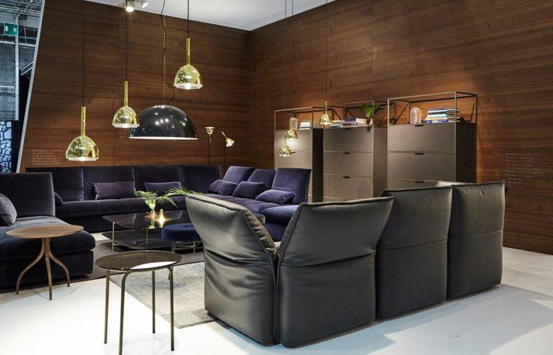 Sala de estar sóbria da nova coleção Ligne Roset