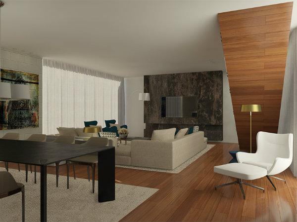 Clássicos para uma Sala de Estar Moderna Madeira e Mármore